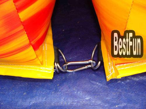 Inflatable outdoor swing slide combination