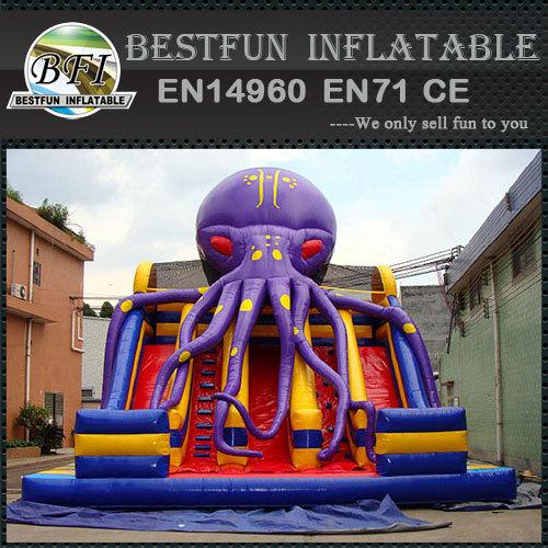 Mega Inflatable octopus combo slide