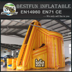 Twist inflatable lava water slide