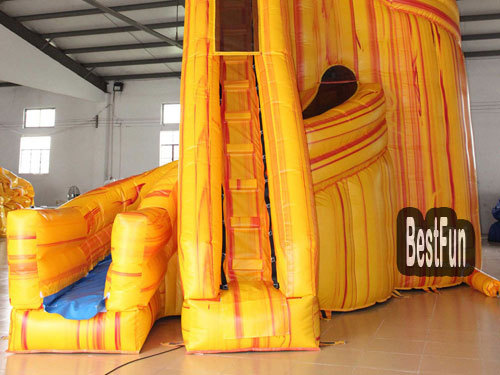 Outdoor Party Lava Twist Inflatable Water Slide