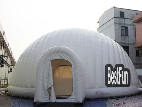 Outdoor event giant LED light inflatable cube tent