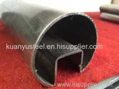 Slot round handrail tube stainless steel balustrade