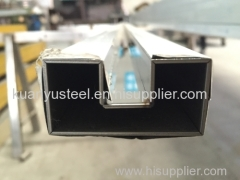 stainless steel square tubes single slotted fabrication