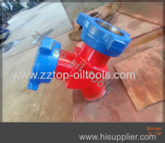 Wellhead Hammer Union 90 degree Y type