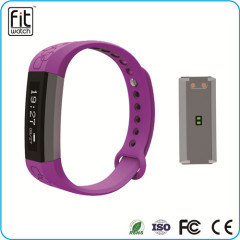 smart watch bracelet with pedometer and heart rate function