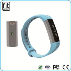 Bluetooth 4.0 waterproof smart wristband watch with pedometer fuction