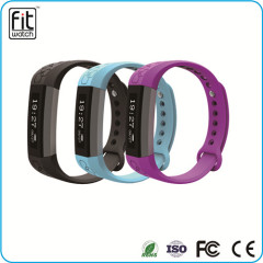 OLED sport fitness smart band wristband with pedometer sleep monitor fuction