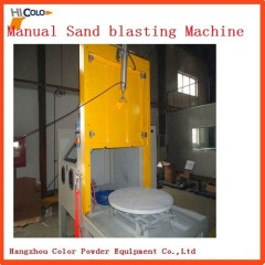 Turntable Dry Sand Blasting Machine