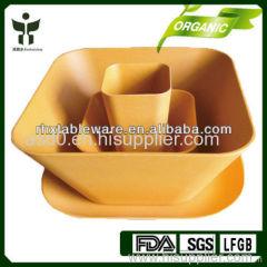 biodegradable bamboo fiber dinnerware natural plant fiber tableware non-toxic bamboo fiber tableware