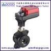 2 way Flange electric operating ball valve for water regulatory control of heating apparatus