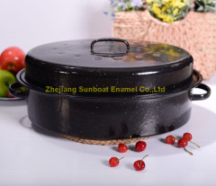 Heavy-duty Enamel Oval Roaster