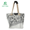 Eco friendly cotton canves tote bags for girls fashion shopping shoulder bags for women