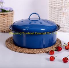 3QT Enamel Stock Pot