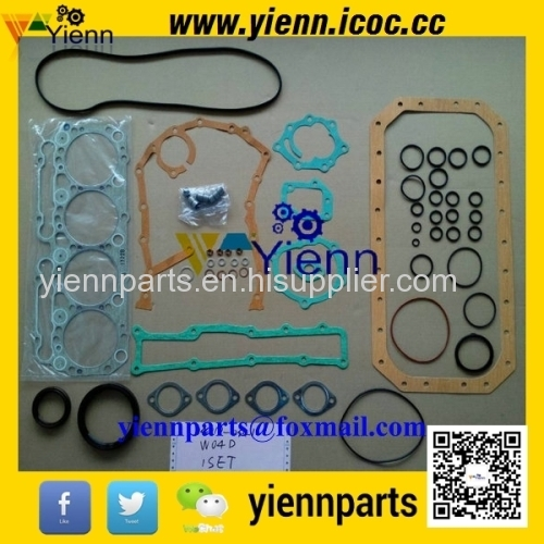 HINO WO4D WO4CD W04DT Full gasket kit 04010-0341 with Head Gasket
