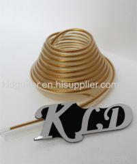 "KLDguitar Gold tinsel vinyl Piping - VINYL PVC PIPING WELT WELTING 3/5"" 5 mm"