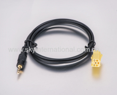FIAT Grande Punto AUX Cable Lead for iPod / MP3 - Gold Plated