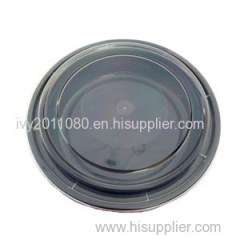 Black Plastic Food Packaging Box