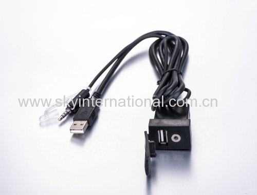 Car Dash Mount Installation USB/Aux Accessory Extension Cable for Toyota