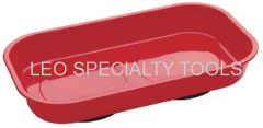 Red Rectangular Magnetic Parts Tray
