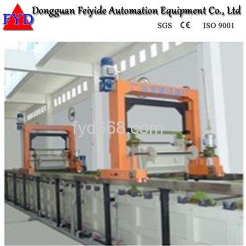 Feiyide Automatic Zinc Barrel Plating Production Line for Fastener / Button