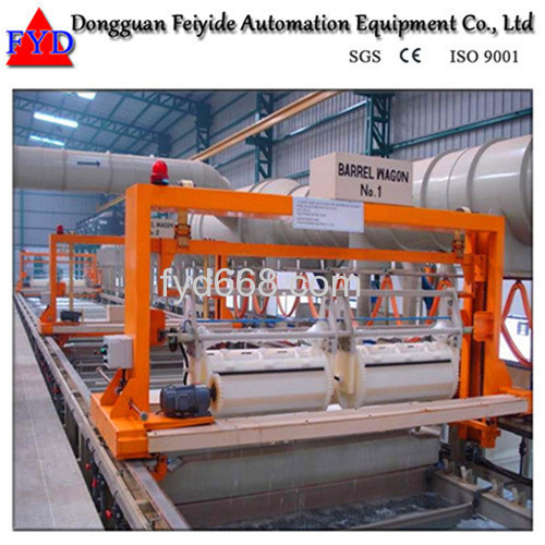 Feiyide Automatic Zinc Barrel Plating Production Line for Hinges
