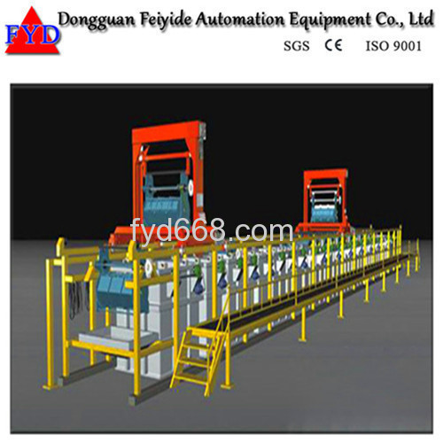 Feiyide Automatic Nickel Barrel Electroplating / Plating Production Line for Fastener / Button
