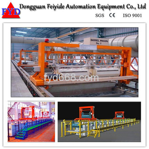 Feiyide Automatic Copper Barrel Electroplating / Plating Production Line for Screw / Nuts / bolts