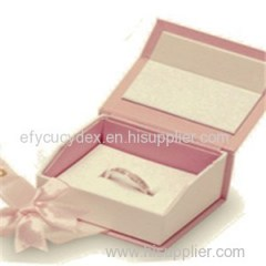 Custom Printed Paper Collapsible Engagement Ring Jewelry Box