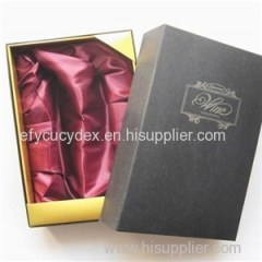 Fancy Design Glossy Gift Paper Packaging Box