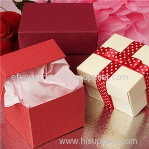 Newest Design Various Style Embossed Mini Tote Paper Cube Boxes