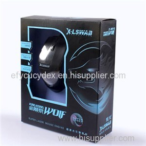 Black Color Customized Cheap Mouse Box With Window