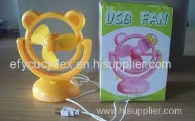 Customized USB Mini Desk Fan Package Box With PVC Window Had Fan Gift Box