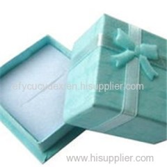 Decorative Custom Design Print Paper Jewelry Box For Wedding Ring