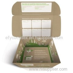Full Color Printing Kraft Corrugated Paper Box