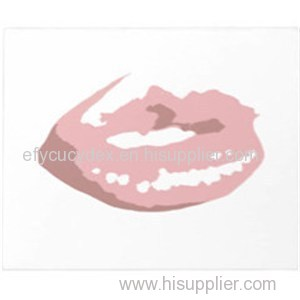 Custom High Quality Color Printed Paper Notepad Lip Shaped Notepad