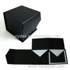 High Quality Custom Black Paper Printed Clamshell Gift Box For Watch