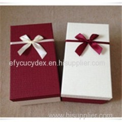 Wholesale Rectangle Birthday Gift Box With Ribbon On Cover From China Manufacture
