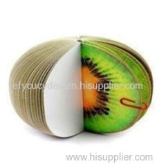 Fancy Best Selling Kiwi Fruit Shape Notepad
