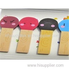 Mini Carton Color Printed Paper Sticky Notepad