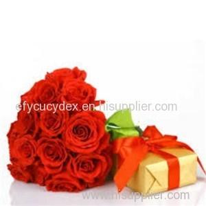 Wide Varieties Flowers Gift Box With Lid