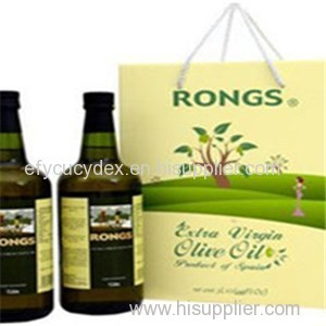 Factory Price Paper Printed Wine Bottle Gift Box With Rope For Handle