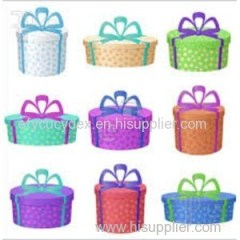 Complete Range Of Articles Multi-colored Polka Dots Round Gift Box