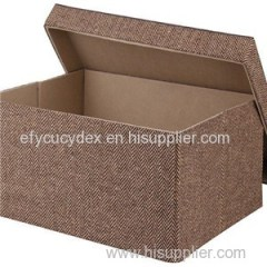 Fancy New Style Cube Recycled Handle Kraft & White Cube Gift Boxes