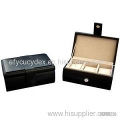 One Two Three Four Leather Grid Watch Box
