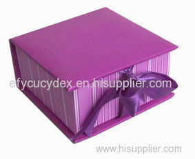 Best Selling Cardboard Clamshell Gift Box With Ribbon