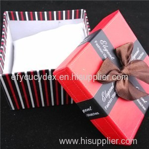 Red Square Cardboard Box The Ribbon And White Pillow