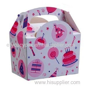 Childrens Kids Pink Celebration Food Meal Birthday Paper Party Boxes
