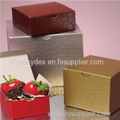 Color Alligator Embossing Tuck Top Box