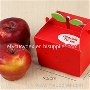 Wholesale Custom Paper Printed Apple Collapsible Gift Box For Christmas Gift