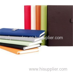Wholesale Custom Leather Cover Ruled Paper Notebook